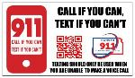Text to 911 Business Card